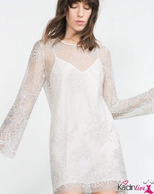 Yeni Sezon Zara Tul Elbise Modelleri Kadinlive Com The Dress Moda Stilleri Aksamustu Giysileri