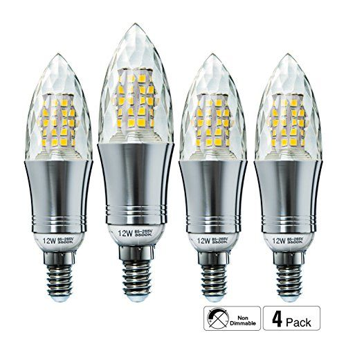 Hzsane E14 Led Candle Bulbs 12w 100w Incandescent Bulbs Using In Guest Bedroom Would Also Use In Craft Room As Bri Candle Bulbs Led Candles Coastal Homes