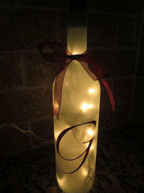 Clear Lighted  Wine Bottle Wedding Shower  Party by KBDecorDesigns, $5.00