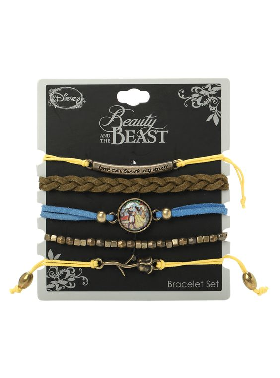 Disney Beauty And The Beast Bracelet 5 Pack | Hot Topic: