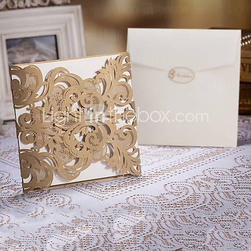 [BRL R$ 168,51] Delicate Laser Cut Wedding Invtitaiton - conjunto de 50