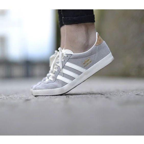 Adidas Originals GAZELLE Baskets basses solid grey/off white/gold prix promo Baskets femme Zalando 90.00 €: