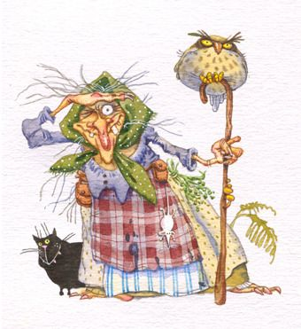 Сообщество иллюстраторов / Иллюстрации / Непомнящий Дмитрий + Попугаева Ольга / Бабушка-Яга: