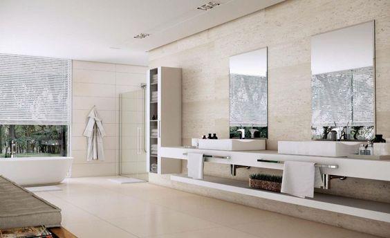 Revestimento de parede em banheiro: