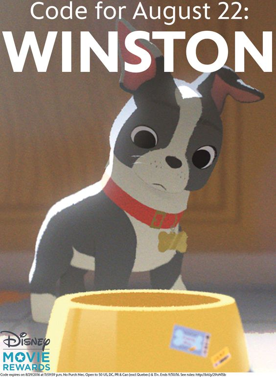 Things are really heating up with the  Disney Movie Rewards Dog Days of Summer Sweepstakes.   Enter for a chance to win a drool-worthy shopping spree for you and your furry best friend.  Click the image to enter the sweepstakes and get a new code each week to unlock additional entries or points.  This week's code is: WINSTON: