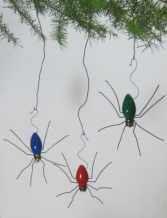 lucky christmas spider christmas tree ornaments set of 3 christmas trees christmas tree. Black Bedroom Furniture Sets. Home Design Ideas