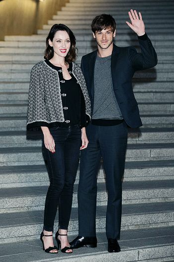 Gaspard Ulliel and his girlfriend Gaëlle Pietri at the Chanel Cruise ...