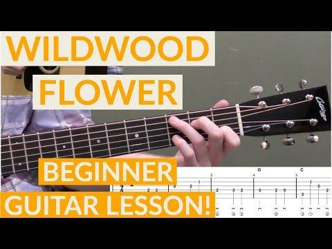 Wildwood Flower Beginner Bluegrass Guitar Lesson With Tab Youtube Guitar Lessons Wildwood Flower Guitar Songs