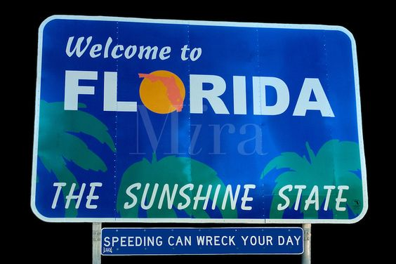 Welcome To Florida Road Sign Welcome Signs Pinterest