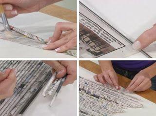 <h1>Cortina o separador de ambientes con papel de diario</h1> : VCTRY's BLOG