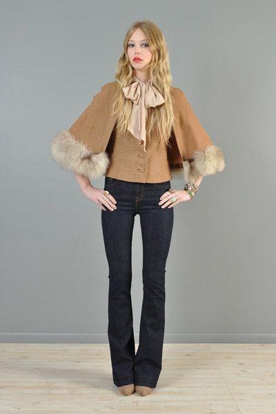 Fox fur jacket/cape @bustownmodern