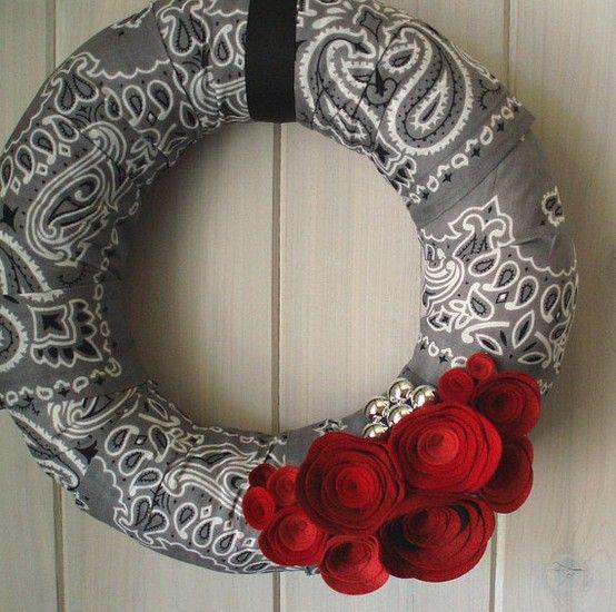 bandana wreath LOVE PAISLEY!!