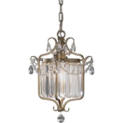Gianna Gilded Silver Crystal Chandelier Murray Feiss Lantern Pendant Lighting Ceiling Ligh
