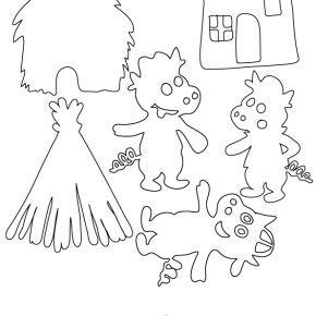 DIY : un th��tre d�ombres {les 3 petits cochons}