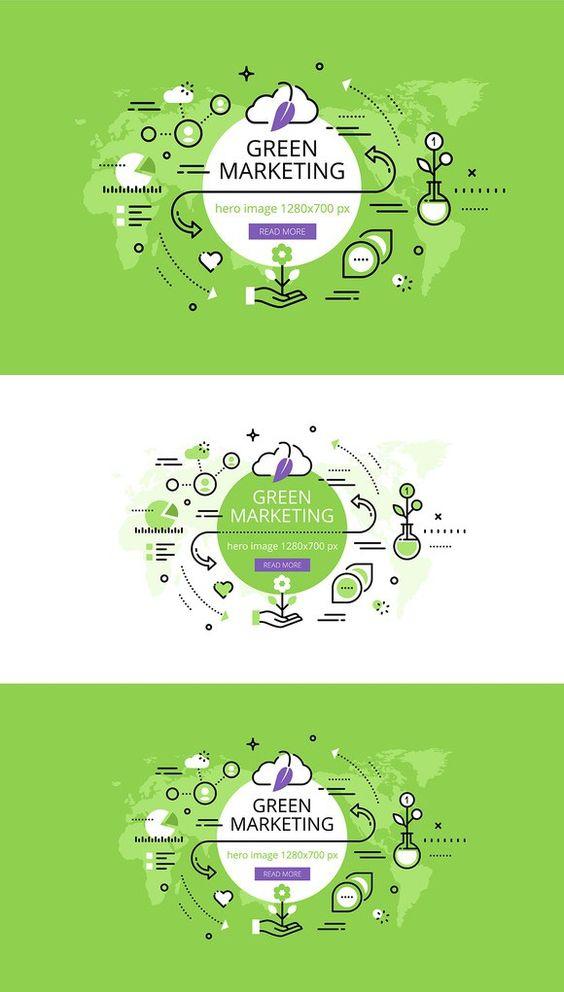 Green Marketing hero banners