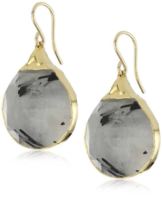 Devon Leigh Black Quartz Earrings at www.endless.com, i really like these...would be great with neutrals and black
