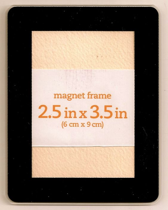 """ACEO Frame-NEW-Black-Magnet-Hard plastic-2.5""""x3.5"""" opening-SQ Streater 