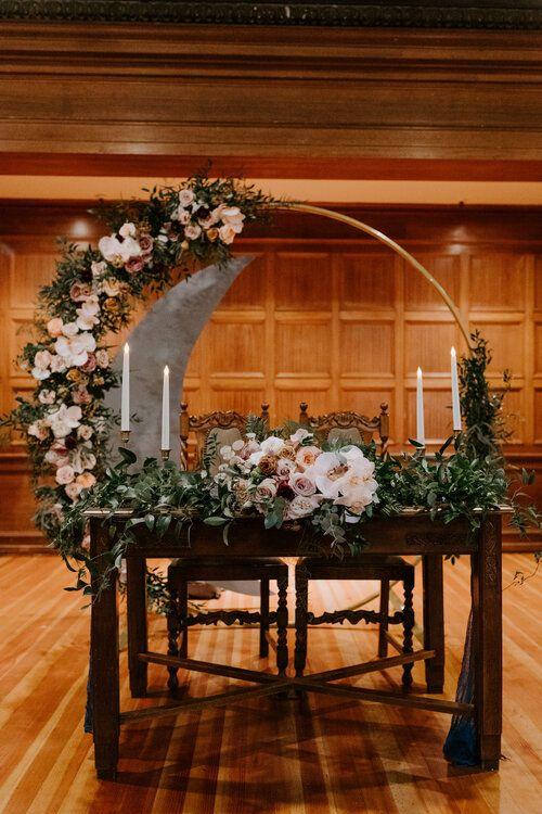 The Loft On Pine Wedding In Long Beach Tida Svy In 2020 Sweetheart Table Wedding Celestial Wedding Theme Sweetheart Table