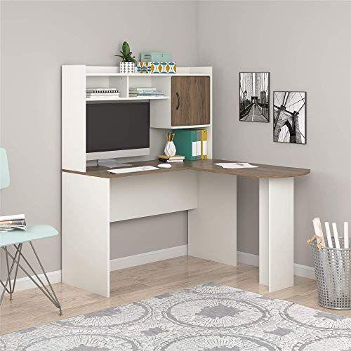 Buy Mainstays Student Desk Home Office Bedroom Furniture Indoor Desk Easy Glide Accessory Drawer Desk Only Rodeo Oak L Shaped Desk White Online Look In 2020 L Shaped Desk