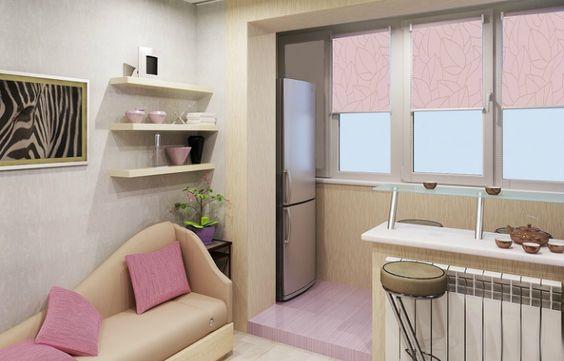 Кухня с балконом: варианты использования балкона и объединение, перепланировка, советы дизайнеров, фотогалерея, идеи дизайна: