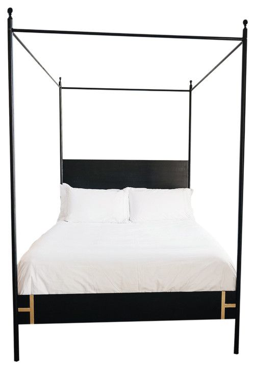 Frame Canopy King Bed By Cb2 Bangtel Black Canopy Beds Queen Canopy Bed White Canopy