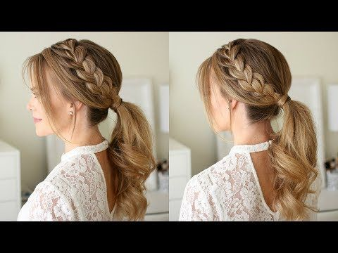 Looking For Some Cute But Easy Hair Ideas For Easter These 9 Tutorials Will Guide You Step Braided Ponytail Hairstyles French Braid Ponytail Pony Hairstyles