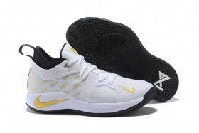 be0ab915c29 Zero Defect Nike PG 2 Paul George White Gold Black Men s Basketball Shoes  Male Sneakers  basketballshoes