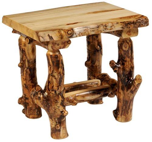 Pass Aspen Bedroom Table Log Furniture Pinterest Log Furniture Minnesota
