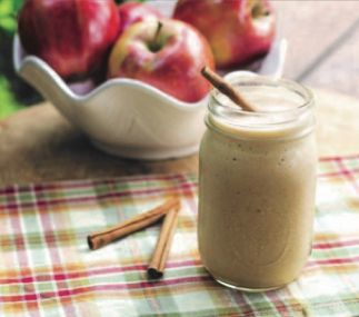 APPLE PIE PROTEIN SHAKE It's the start of apple season and here's a great alterna;ve to a sweet craving! 1 1/2 cup unsweetened vanilla almond milk 1 medium peeled, cored and diced apple 4 ice cubes 1/2 cup frozen cauliflower 1 scoop vanilla whey protein powder 1/2 tsp cinnamon 5-6 raw pecan halves (optional) Blend all ingredients together in a blender. Pour and enjoy!