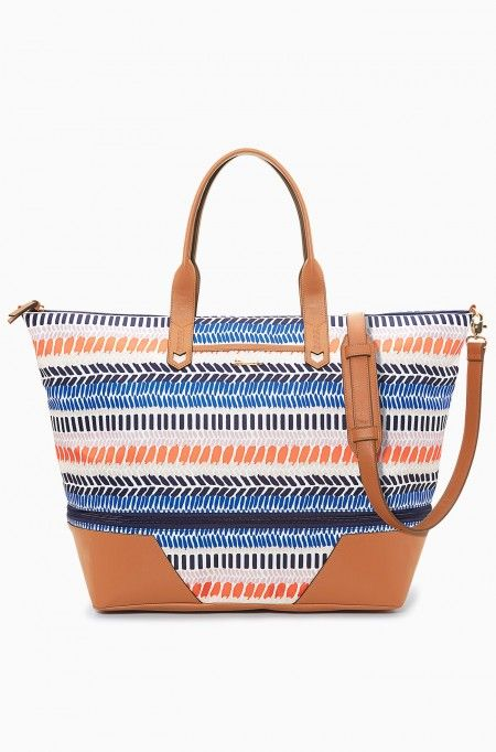 Multi Stripe Ikat Getaway Weekender Bag | Stella: