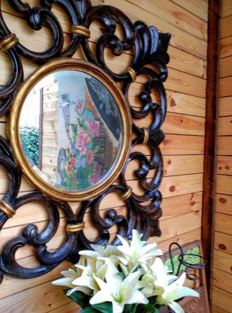 Detalle espejo restaurado. Inma Gregori 2015