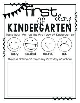 math worksheet : first day of kindergarten  kindergarten  pinterest  primer día  : First Day Of Kindergarten Worksheets