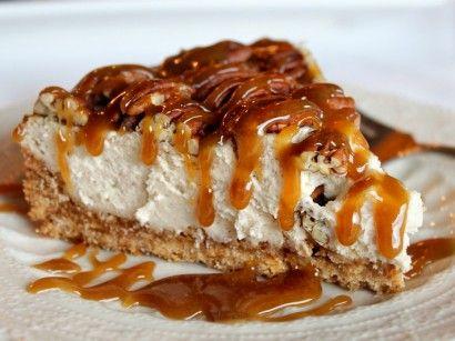 Pecan Pie Caramel Cheesecake.