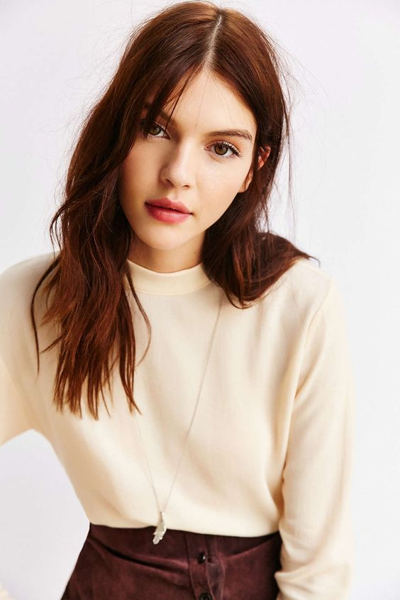 Ecote Mock Neck Tuckable Top - Urban Outfitters: