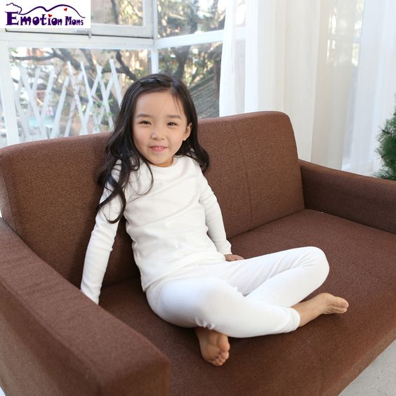 Emotion Moms Baby clothes Girls Long Johns Children Underwear Long ...