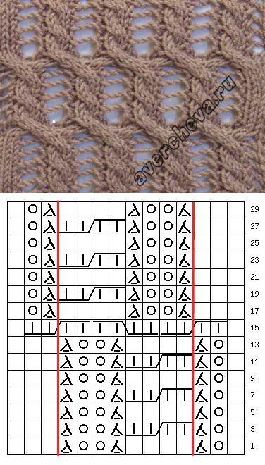 era узор 744 | каталог вязаных спицами узоров | вязание | Постила: