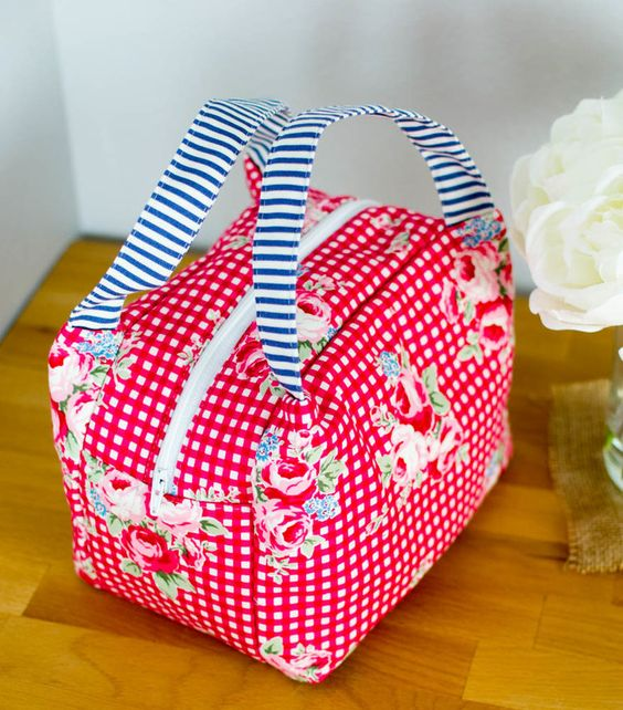 Pinterest UnTutorial Solved... My Chubby Lunch Tote — SewCanShe | Free Daily Sewing Tutorials
