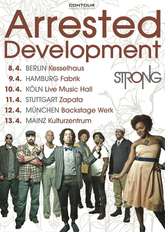 """Our """"STRONG"""" tour of wonderful Germany! #ADtheBand #ArrestedDevelopment"""