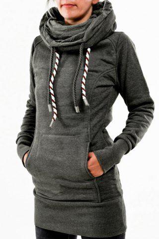 Chic Hooded Long Sleeve Star Hoodie For Women Sweatshirts & Hoodies | RoseGal.com Mobile