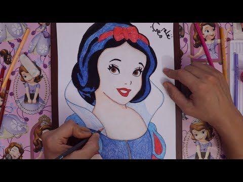 تعليم رسم اميرات ديزني كيف نرسم سنوايت من كرتون فلة والاقزام السبعة جزء الثاني Youtube Make It Yourself Bookmarks Disney Characters