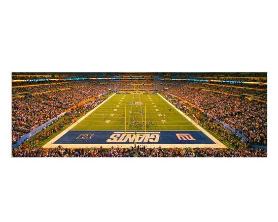 New York Giants Super Bowl XLVI Color Photograph Football Sports Photography Lucas Oil Stadium Indianapolis  Panoramic Art Print (30.00 USD) by JoshFriedmanPhoto
