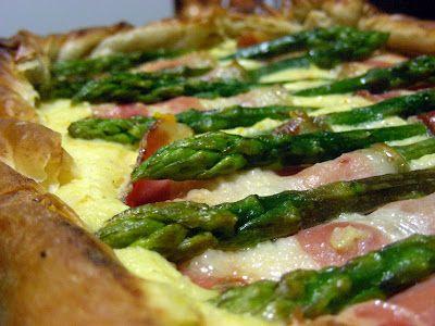 Vai uma fatia?: Tarte de Espargos e Bacon