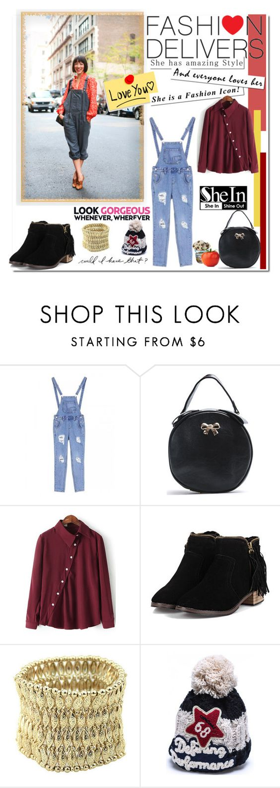 """www.shein.com"" by bellamonica ❤ liked on Polyvore featuring vintage"