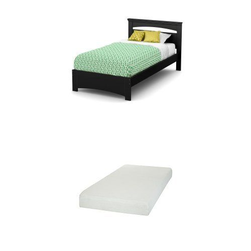 South Shore Libra Twin Bed Set 39 Pure Black And Somea Twin