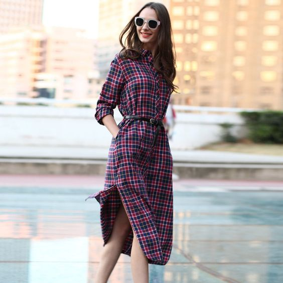 Just Released! Prescilla Long Pl... http://simplyparisboutique.com/products/veri-gude-long-plaid-shirt-dress-long-sleeve-women-cotton-long-shirtdress-for-autumn