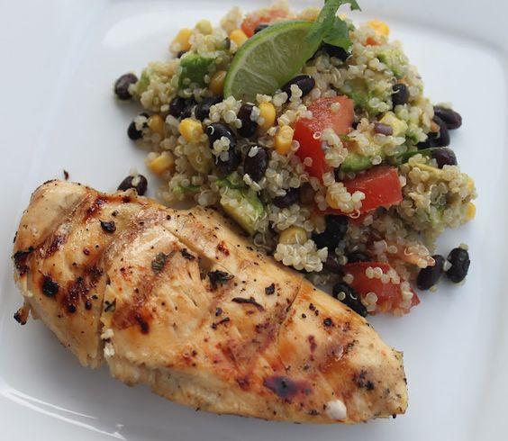 Cilantro Lime Chicken and Cilantro Lime Quinoa Summer Salad