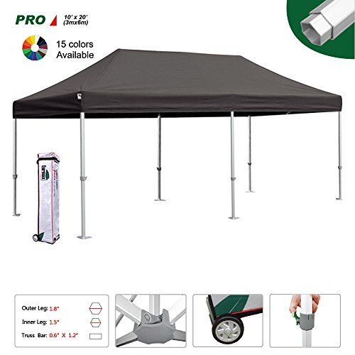 Eurmax Professional 1020 Ez Pop Up Canopy Wedding Party Tent Instant Outdoor Gazebo Aluminum Frame Commercial Grade Bo Gazebo Best Tents For Camping Party Tent