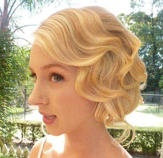 1920s wedding hair. If I have shorter hair for the wedding, Yes.