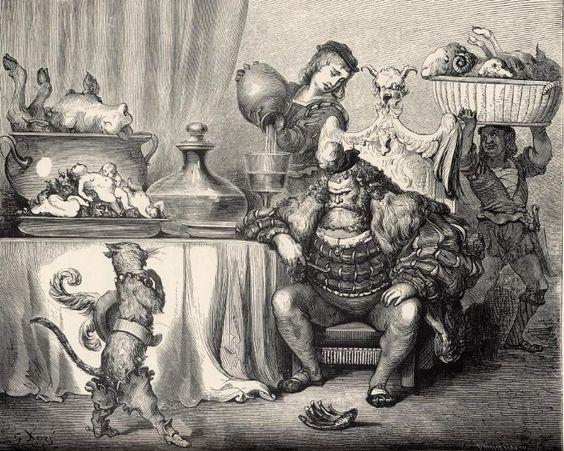 Ilustrações do original de Gustave Doré para Os Contos de Perrault. | A Menina da Tarja Preta