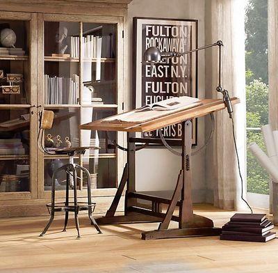 RESTORATION HARDWARE - Table à dessin-RESTORATION HARDWARE